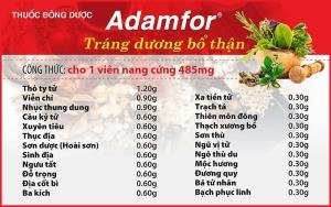 Thuốc nam chữa suất tinh sớm Adamfor